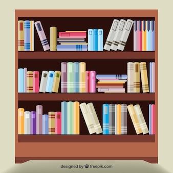 Houten boekenplank