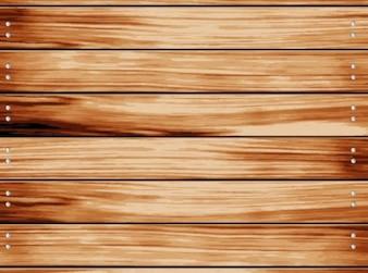 Houten hek met horizontale dobble geschroefde planken