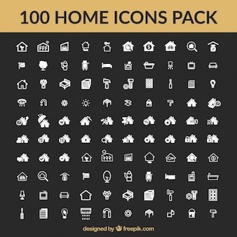 Huis iconen vector collectie