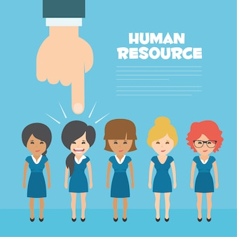 Human resources achtergrond ontwerp