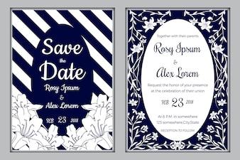 Huwelijksuitnodiging, Bewaar de datum