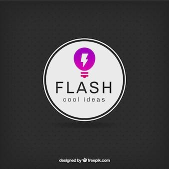 Idee gloeilamp logo