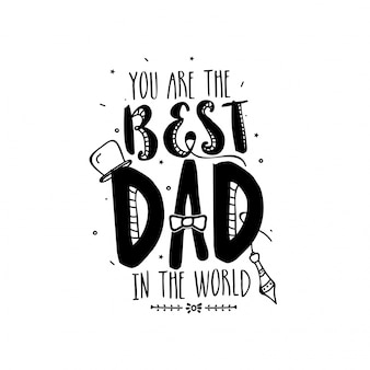 Ik heb de beste Vader, Doodle Illustraties