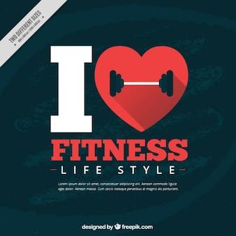 Ik hou van fitness achtergrond