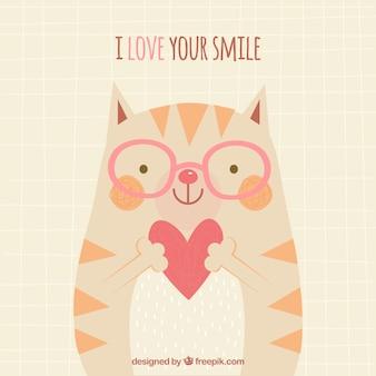 Ik hou van je glimlachachtergrond