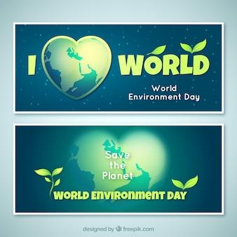 Ik hou wereld banner