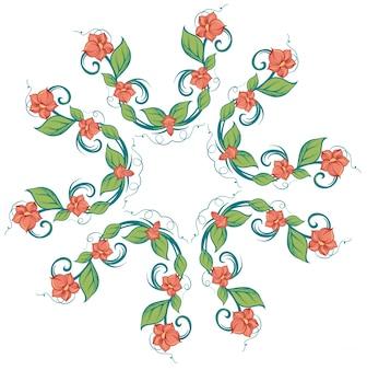 Illustratie van een patroon op een witte achtergrond