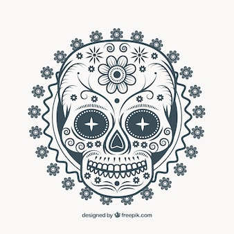 Illustratie van Mexicaanse sier schedel