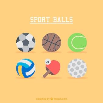 Illustraties van de sport ballen