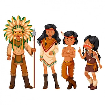 Indiase familie ontwerp
