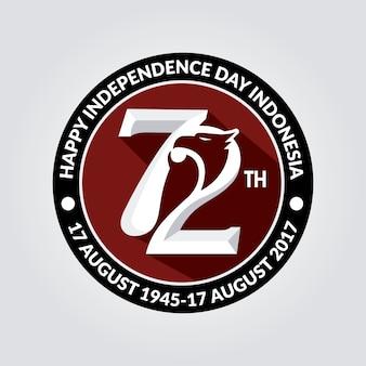 Indonesië onafhankelijkheids logo