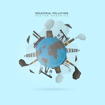 Industriële vervuiling achtergrond