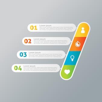 Infografisch multicolor design