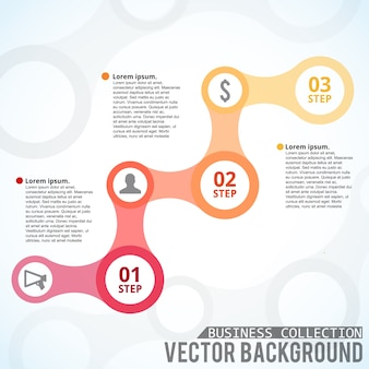 Infografisch sjabloon met stappen