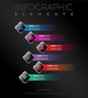 Infografische banners collectie