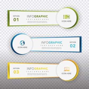 Infografische sjablonen collectie