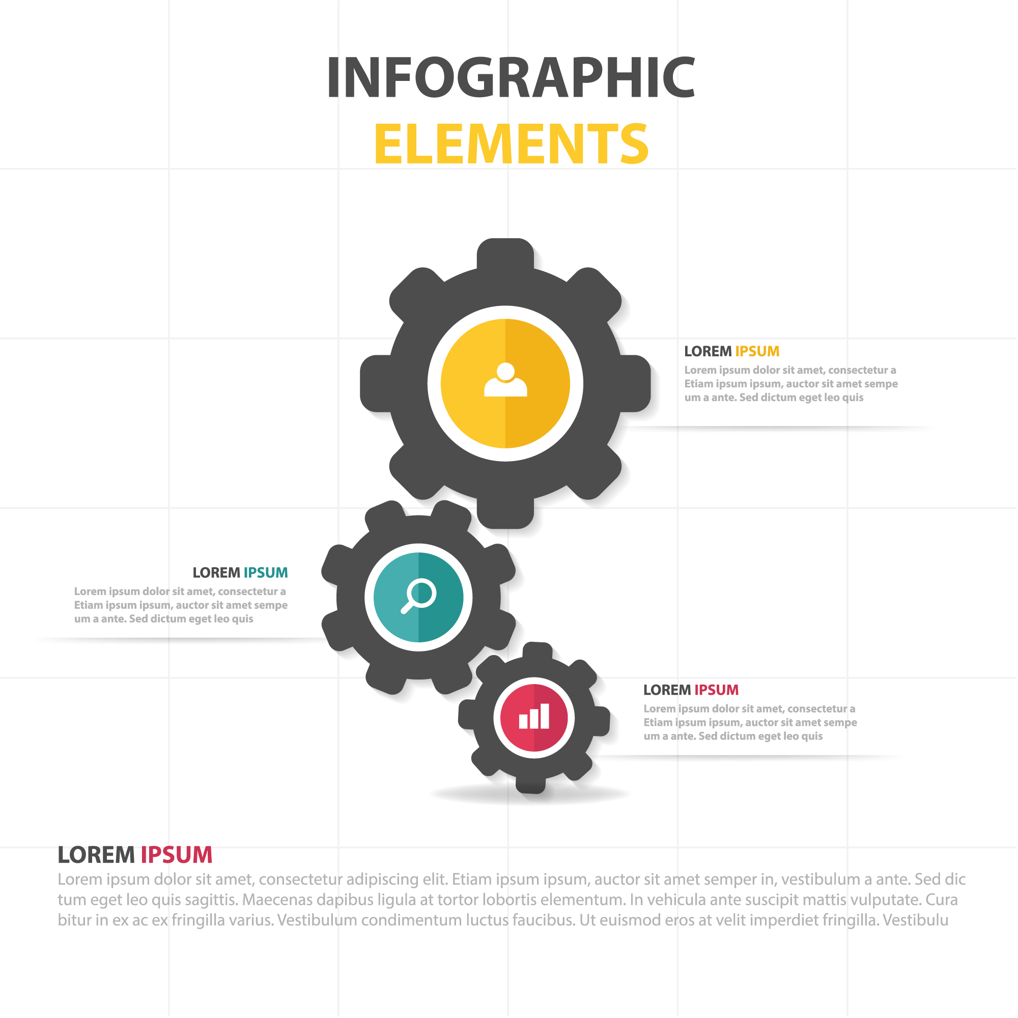 Infographic business template met versnelling