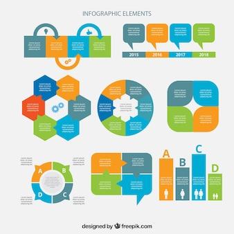 Infographic elementen met moderne ontwerpen