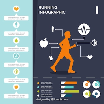 Infographic jogging sjabloon