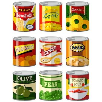 Ingeblikt voedsel collectie