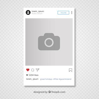 Instagram sjabloon ontwerp