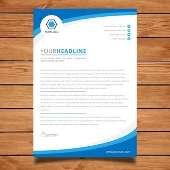 Institutioneel blauw brochure sjabloon