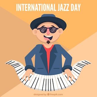 International jazz dag achtergrond