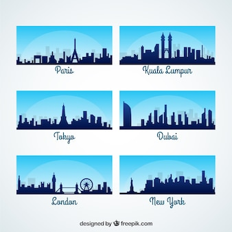 Internationale stad skylines