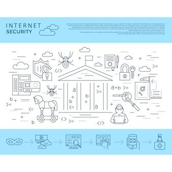 Internet beveiligingsachtergrond