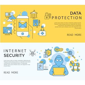 Internet beveiligingsbanners