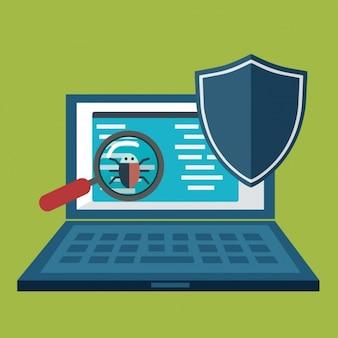 Internet security achtergrond