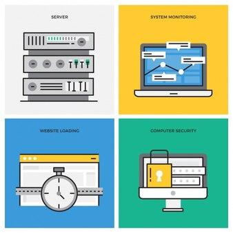 Internet-verbinding ontwerpt collectie