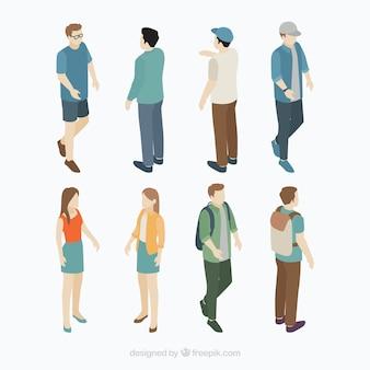Inzameling van isometrische burger