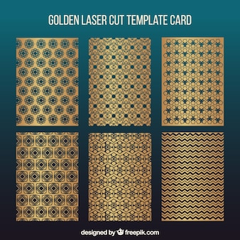 Inzameling van laser cut invitations sjablonen