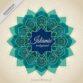 Islamitisch nieuwjaar achtergrond van de Arabische tegel
