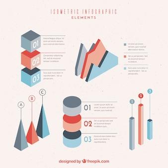 Isometrische elementen voor infographics