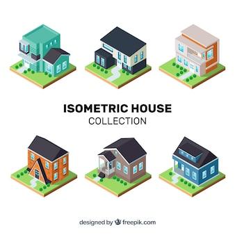 Isometrische huiscollectie