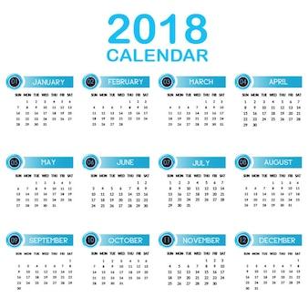 Jaarlijkse kalender 2018