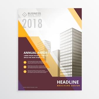 Jaarverslag zakelijke flyer poster brochure design template