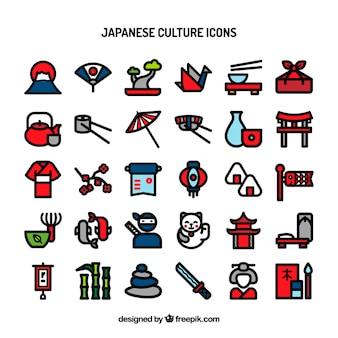 Japanse cultuur pictogrammen