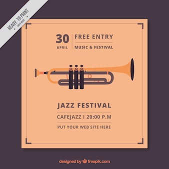 Jazz festival vintage brochure