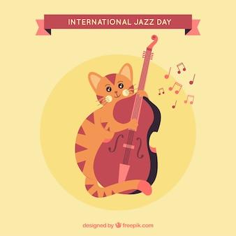 Jazz jazz achtergrond met viool