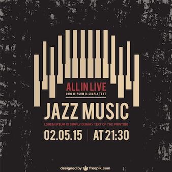 Jazzmuziek poster