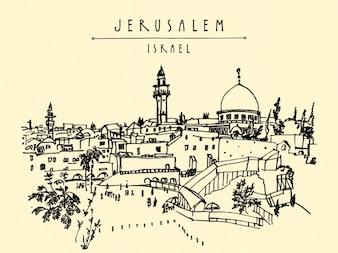 Jeruzalem achtergrond ontwerp