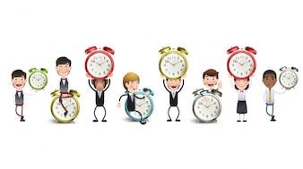 Jonge klok behang minuten schoonmaken