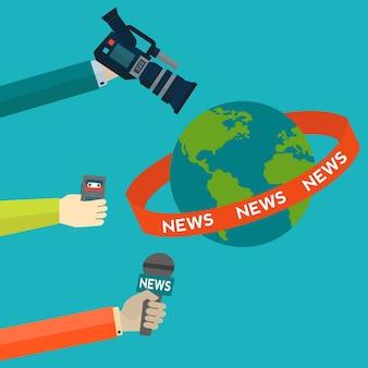 Journalistiek achtergrond ontwerp