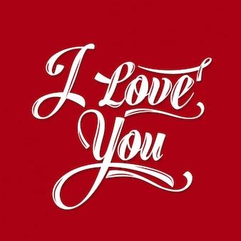 Kalligrafische Schrijven ik hou van jou