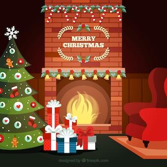 Kerst open haard met sokken iconen gratis download - Interieur decoratie volwassen kamer ...