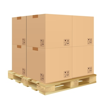Kartonnen doos geïsoleerd