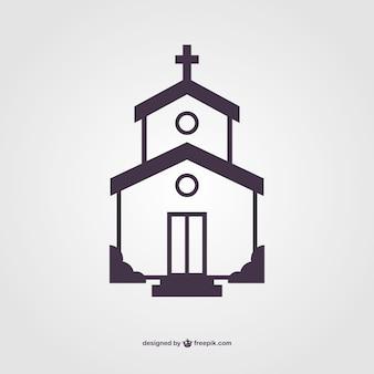 Kerk silhouet vector